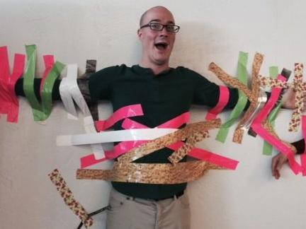Duct Tape Fundraiser, Mr. Winning % Dr. Alexander